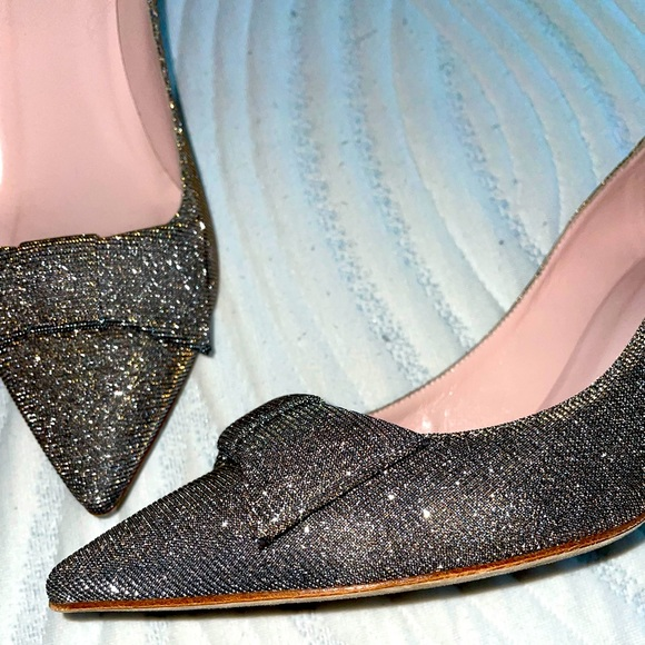 Sparkly Kate Spade Bow Heels